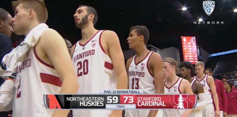 Stanford Shoots 50 Percent From Field to Burry Northeastern, 73-59