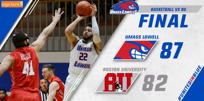 Harris Notches 1,000th Career Point in UMass Lowell's 87-82 Victory Over BU