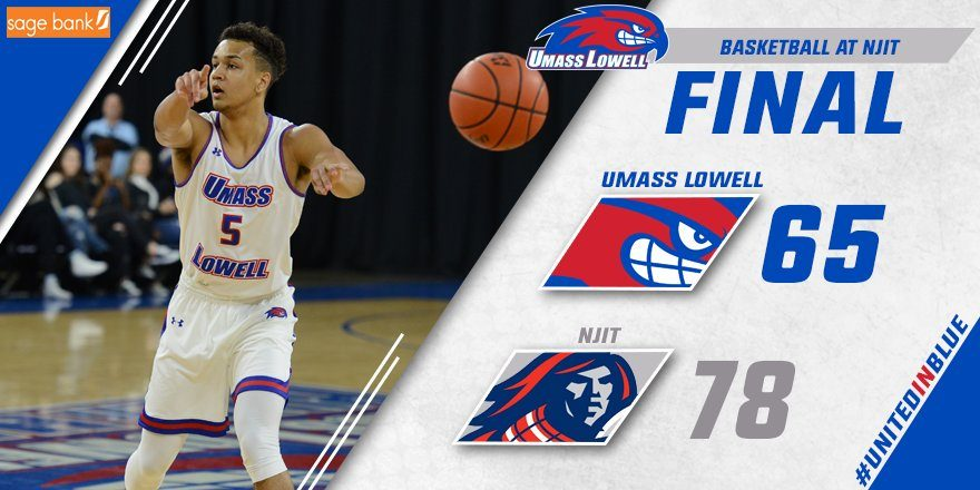 UMass Lowell Sloppy in 78-65 Loss to NJIT