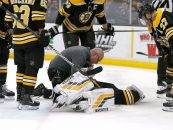 Bruins' Rask Injured in Loss to Rangers