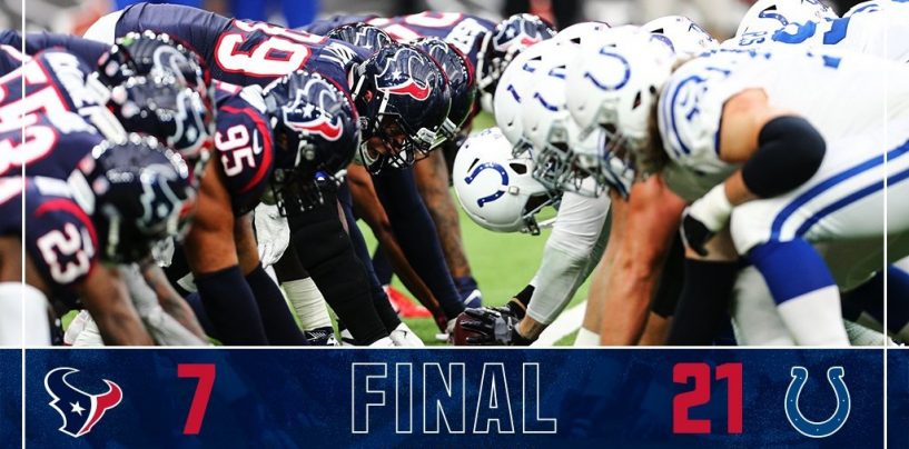 Texans Can't Overcome Slow Start, Fall to Colts