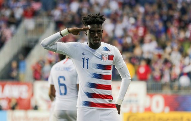 9e1c1d719 U.S. Men s National Team Spotlight  Timothy Weah