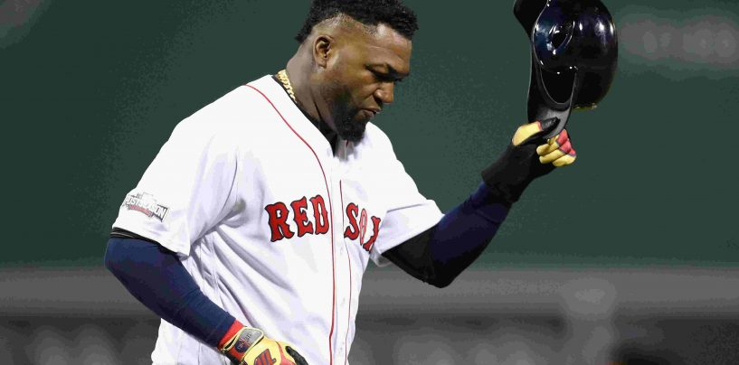 Ortiz Makes First Public Appearance at Fenway