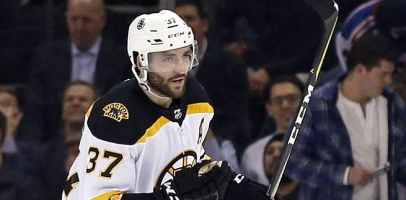Bergeron Has Been on Fire of Late