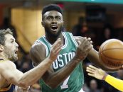 Watch: Jaylen Brown Throws off the Backboard Alley-Oop to Andre Drummond in Africa vs. World Game
