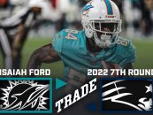 Report: Patriots Acquire Isaiah Ford From Dolphins