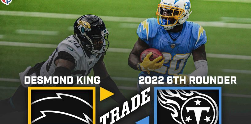Report: Tennessee Titans Acquire Desmond King from the Los Angeles Chargers