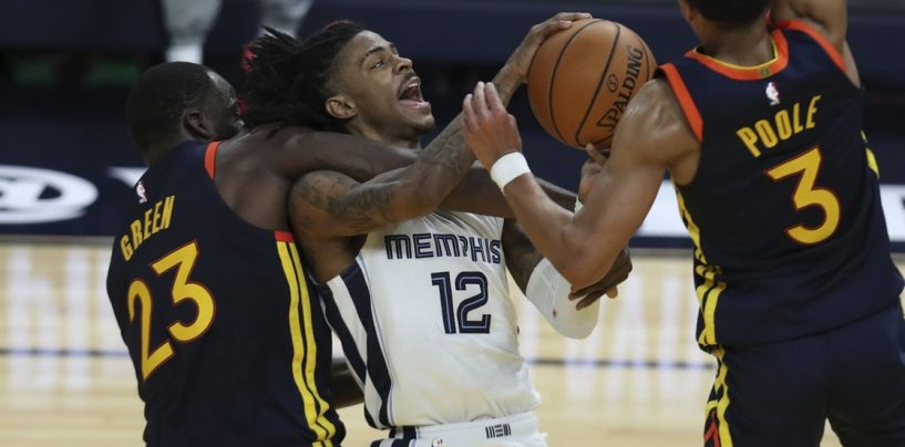 Morant, Grizzlies Defeat Warriors to Claim Eighth Seed